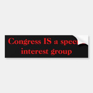 El congreso ES un grupo de interés especial Pegatina Para Auto