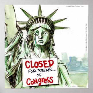 El congreso LadyLiberty cerró el poste divertido d Poster
