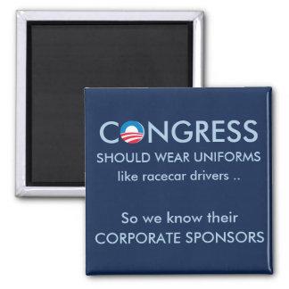 El congreso necesita los uniformes imán cuadrado