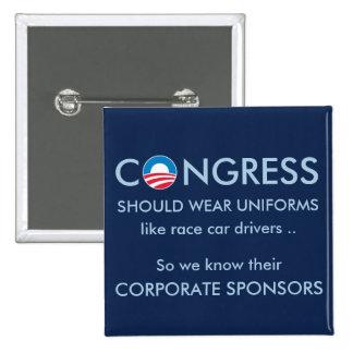 El congreso necesita los uniformes pin cuadrado