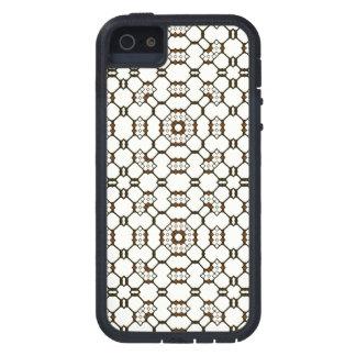 El conjunto de circuitos geométrico negro blanco iPhone 5 carcasas