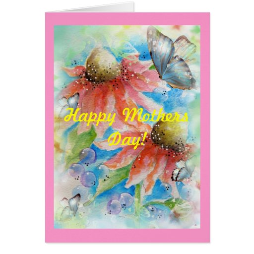 El cono rosado florece la tarjeta de felicitación