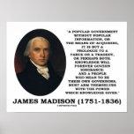 El conocimiento de James Madison gobierna para Poster