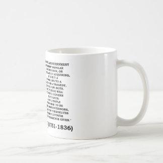 El conocimiento de James Madison gobierna para sie Tazas De Café