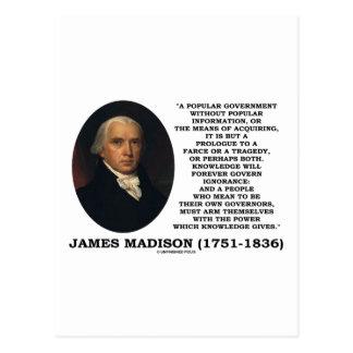 El conocimiento de James Madison gobierna para Postal