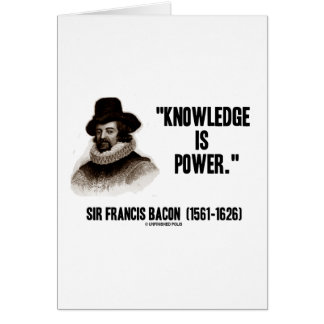 El conocimiento de sir Francis Bacon es cita del p Felicitación