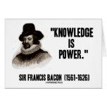 El conocimiento de sir Francis Bacon es cita del p Tarjetón