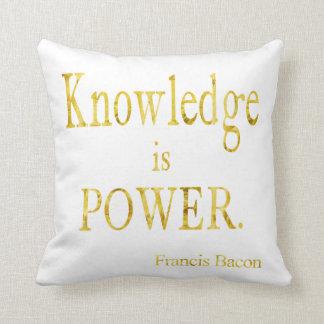 El conocimiento del tocino es brillo del oro de la almohadas