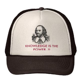 el conocimiento es el poder gorros bordados