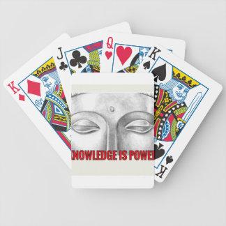 el conocimiento es poder baraja cartas de poker