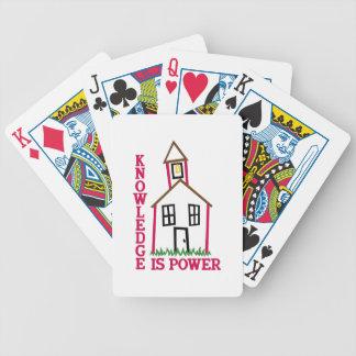 El conocimiento es poder baraja de cartas