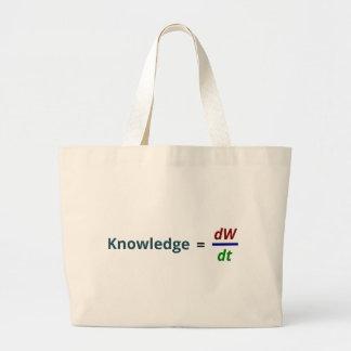 El conocimiento es poder bolsas de mano