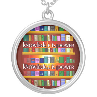 El conocimiento es poder Bookscase Collares Personalizados