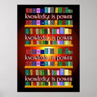 El conocimiento es poder Bookscase Poster