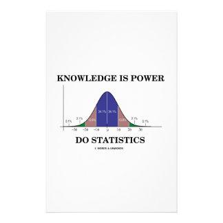 El conocimiento es poder hace humor de la curva de  papeleria