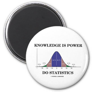 El conocimiento es poder hace las estadísticas (el imanes de nevera