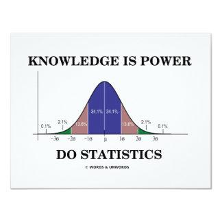 """El conocimiento es poder hace las estadísticas (el invitación 4.25"""" x 5.5"""""""