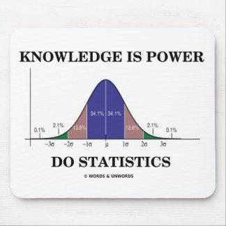El conocimiento es poder hace las estadísticas el tapetes de raton