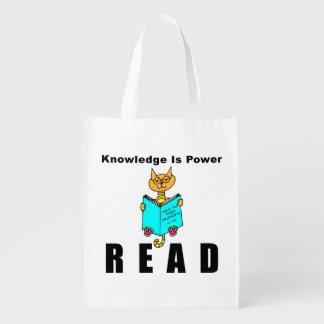El conocimiento fresco de la lectura del gato es bolsa de la compra