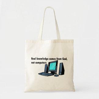 El conocimiento real viene de los ordenadores de d bolsas de mano