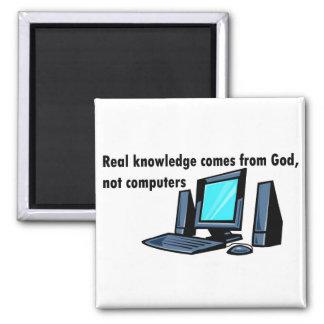 El conocimiento real viene de los ordenadores de d imán