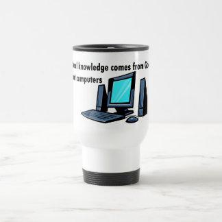 El conocimiento real viene de los ordenadores de d taza de café