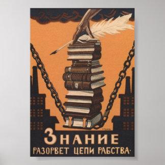 El conocimiento SOVIÉTICO rompe las cadenas de la  Póster
