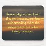 El conocimiento viene de… tapete de raton