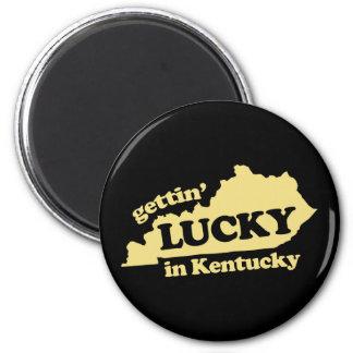 el conseguir afortunado en Kentucky Imán Redondo 5 Cm