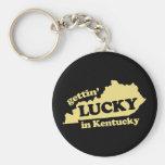 el conseguir afortunado en Kentucky Llaveros Personalizados