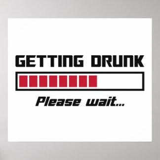 El conseguir bebido por favor espera la barra de póster