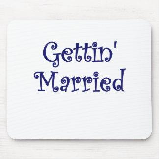 El conseguir casado tapete de raton