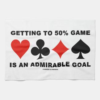 El conseguir hasta el juego del 50% es una meta toallas de cocina