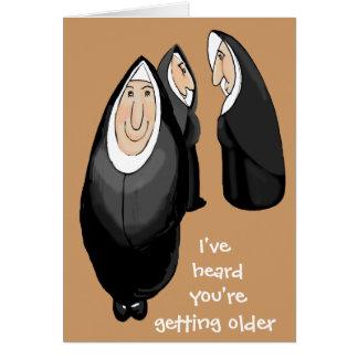 El conseguir más viejo tarjeta de felicitación