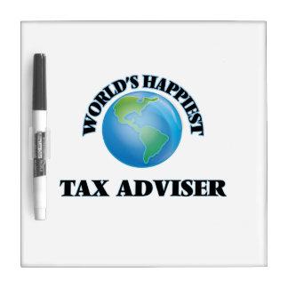El consejero del impuesto más feliz del mundo tablero blanco