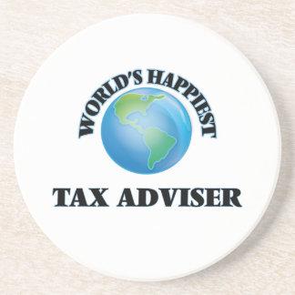 El consejero del impuesto más feliz del mundo posavasos personalizados