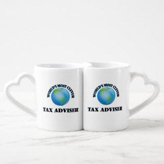 El consejero del impuesto más listo del mundo tazas para parejas
