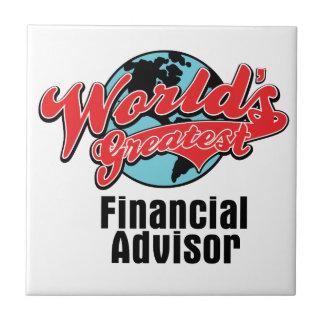 El consejero financiero más grande de los mundos azulejo cuadrado pequeño
