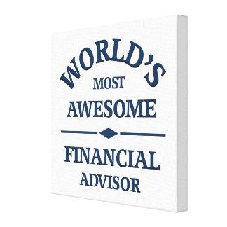 El consejero financiero más impresionante del mund impresión en lona estirada