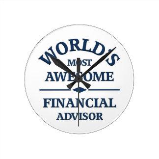 El consejero financiero más impresionante del mund relojes de pared