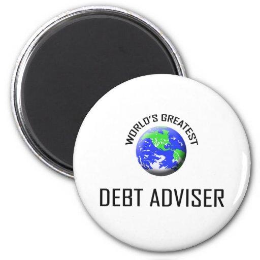 El consejero más grande de la deuda del mundo imán redondo 5 cm