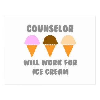 El consejero… trabajará para el helado tarjetas postales
