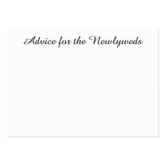 """El """"consejo carda"""" para los recienes casados tarjetas de visita"""