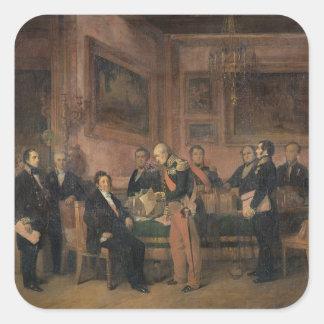 El Consejo de Ministros en la firma de Tuileries Calcomanias Cuadradas