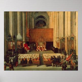 El consejo de Trent, el 4 de diciembre de 1563 Póster
