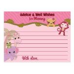 El consejo dulce de los bebés de la selva para la  tarjetas postales