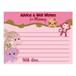 El consejo dulce de los bebés de la selva para la  tarjeta postal