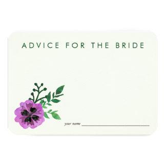 """El consejo para la novia carda el pensamiento invitación 3.5"""" x 5"""""""