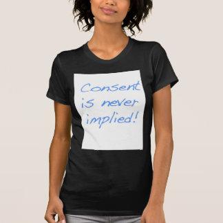 El consentimiento es nunca implica playeras