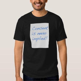 El consentimiento es nunca implica poleras
